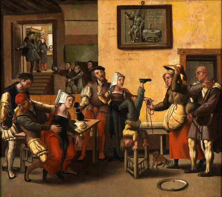 Brunswick_Monogrammist_-_An_Inn_with_Acrobats_and_a_Bagpipe_Player