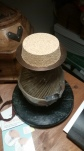 A ball of hemp on a spindle with a cork top